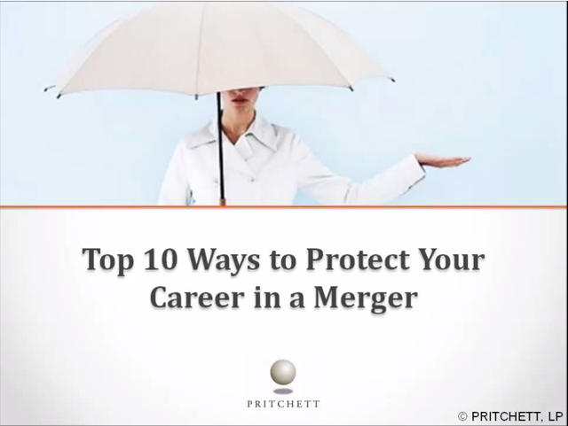 Top 10 ways to protect your career in merger