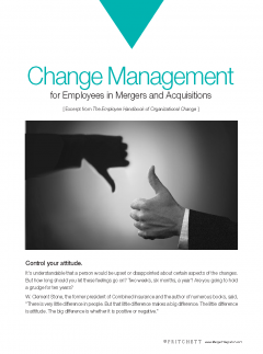 Change Management for employees in m&a