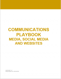 Communications Playbook for Media, Social Media, and Websites