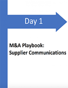 Day 1 M&A Playbook: Supplier Communications