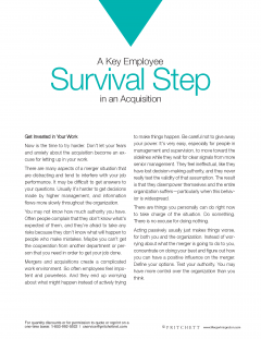 Employee survival in acquisition
