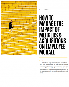 How to Manage the Impact of Mergers & Acquisitions on Employee Morale