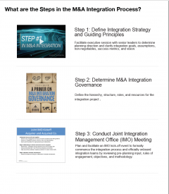What are the Steps in M&A Integration