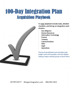 100 Day Integration Plan - $900 Million Acquisition Playbook