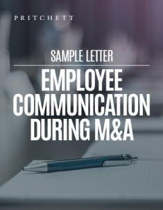 Sample Letter: Employee Communications During M&A