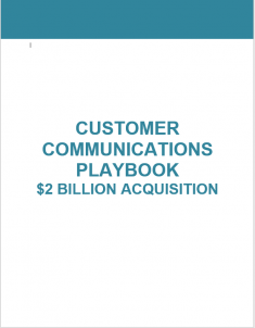 Customer Communications M&A Integration Playbook