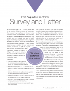 survey letter to customers