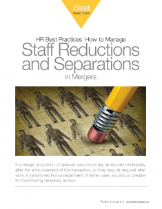 Manage staff reductions in mergers