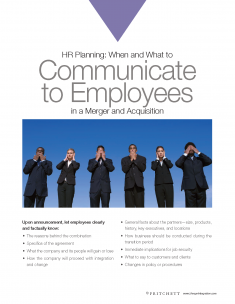 HR planning Communicate to Employees