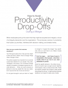 How to avoid productivity Drop off