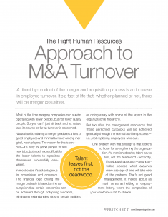 The right approach to turnover