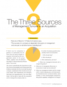 The Three sources of Management Turnover