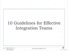 10 Guidelines for Effective Integration Teams