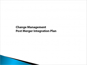 change management post merger integration plan