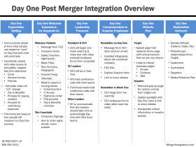 Day One Post Merger Integration Overview