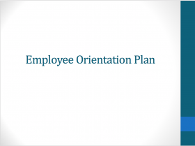 Employee Orientation Plan