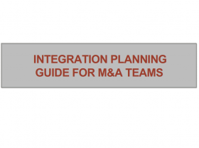 Integration Planning Guide for M&A Teams