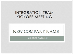 Integration Team Kickoff Meeting