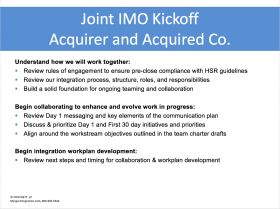Joint IMO Kickoff: Acquirer and Acquired Company