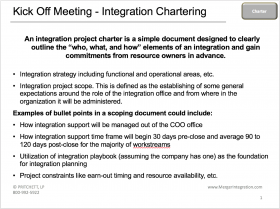 Kick Off Meeting - Integration Chartering