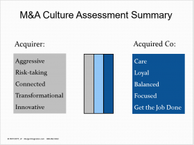 M&A Culture Assessment Summary