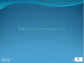 M&A Integration Approach