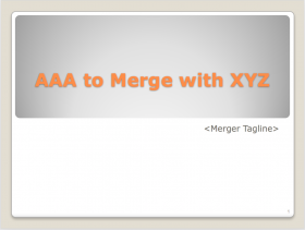 AAA to Merge with XYZ