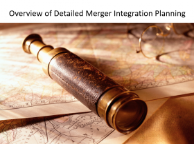 Overview of Merger Integration Planning Process