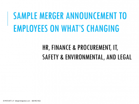 Sample Merger Announcement to Employees on What's Changing