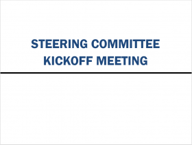 Steering Committee M&A Integration Kickoff Meeting