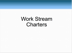 Workstream Charters