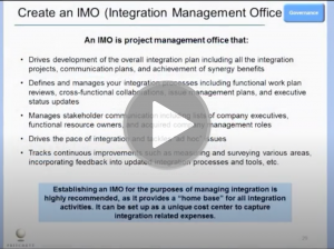 What is the Role of the IMO (Integration Management Office)?
