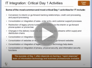 What Are Critical IT Day One Activities and Risks?